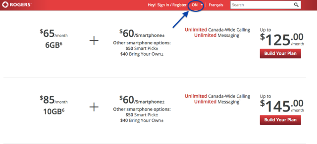 Rogers ON Pricing
